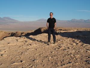 Photograph of Richard Moon in the Atacama Desert of Chile.